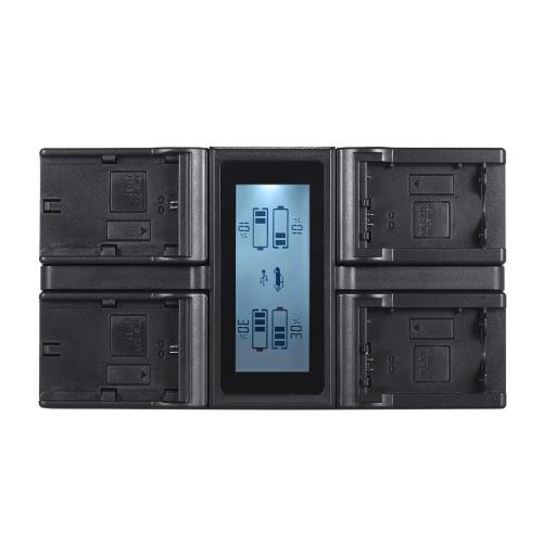 Andoer LP-E6 LP-E6N NPFW50 NP-FW50 4-kanałowa ładowarka sieciowa z wyświetlaczem LCD dla Canon 5DIII 5DS 5DSR 6D 7DII 80D 70D dla Sony α7 α7R α7sII α7II α6500 A6300