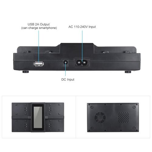 Andoer EN-EL15 NP-FW50 NPFW50 4-kanałowa aparat cyfrowy z ładowarką LCD z wyświetlaczem LCD dla Nikona D500 D610 D7100 D750 D800 D7200 dla Sony α7 α7R α7sII α7II α6500 A6300