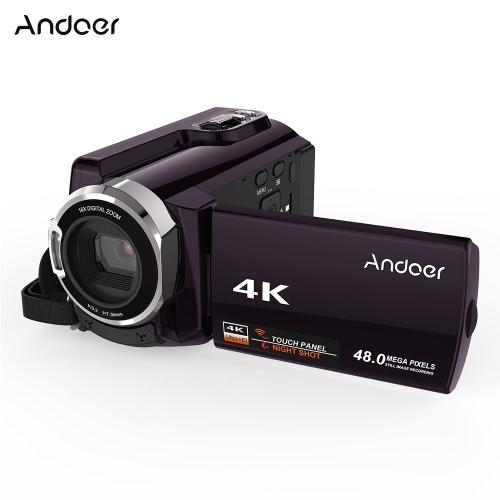 Andoer HDV-534K Cyfrowa kamera wideo 4K 48MP WiFi