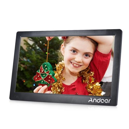 Andoer 15.6inch Digital Photo Frame 1920 * 1080 HD Advertising Machine Visualização completa IPS Screen Support Random Play com Remote Christmas Gift