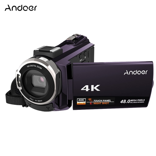 Andoer 4K 1080P 48MP WiFi Kamera cyfrowa Kamera wideo