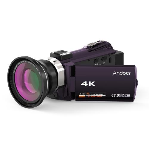 Andoer 524KM 4K 1080P 48MP WiFi Cyfrowa kamera wideo
