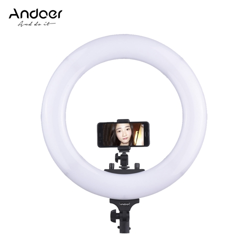 """Andoer 18 """"432 48W z możliwością ściemniania 3200-5600K Dwukolorowe oświetlenie LED"""