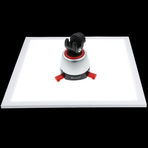 PULUZ 1200LM LEDの写真シャドウレスソフトボックスボトムライト+スイッチシャドーなし調整可能なランプパネル写真撮影のためのアクリル材料テントボックスポーラー調光なし