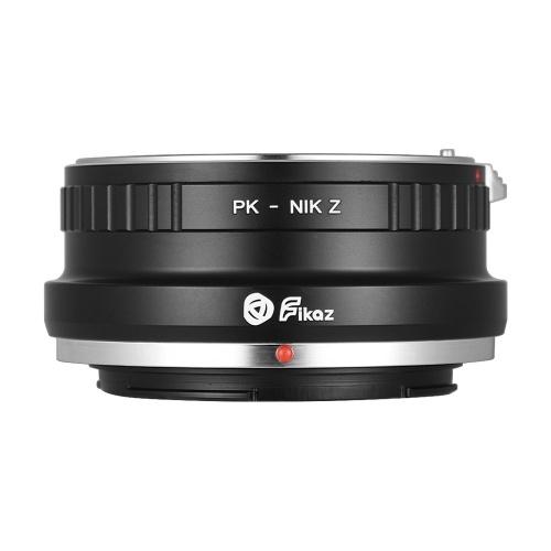 Высокоточное переходное кольцо для объектива Fikaz Алюминиевый сплав для объектива Pentax с байонетом PK для Nikon Z6 Z7 беззеркальная камера Z-PK PK-NIKZ фото