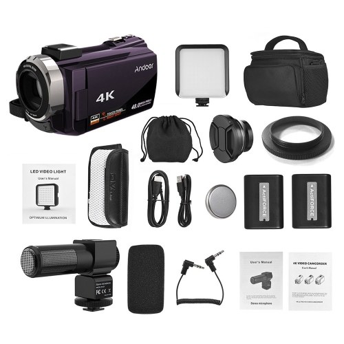 Andoer 4K видеокамера 1080P 48MP WiFi цифровая видеокамера фото