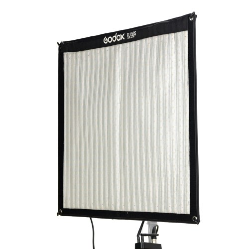 Godox FL150S 150W Гибкая светодиодная видеолампа 3300-5600K Двухцветная складная тканевая лампа с контроллером + пульт дистанционного управления + X-образная опора 60 * 60 см Размер в разложенном виде для портретной съемки на улице в студии