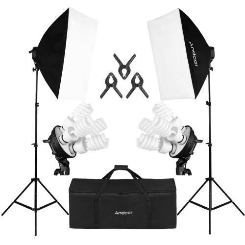 Kit d'éclairage de photographie Andoer Studio