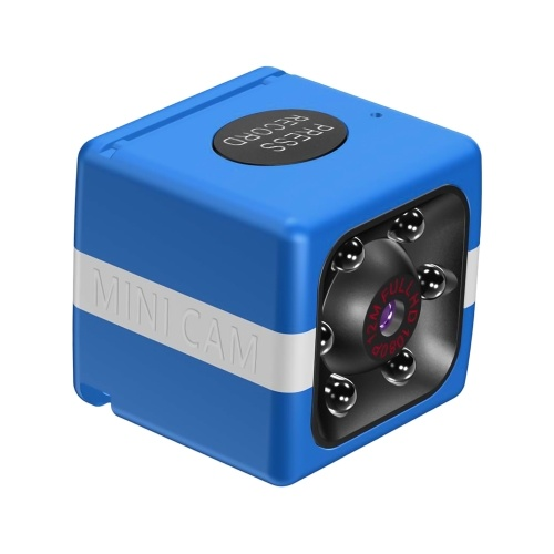 1080P 30FPS WiFi Mini Camera Video Cam Camcorder Nanny Cam 120° Wide Angle IR Night Vision Motion Detection 32GB Extended Memory for Baby Pet Home Security Monitoring
