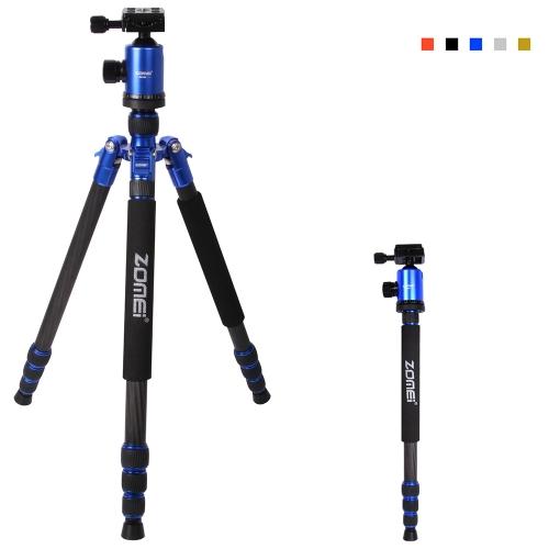 Zomei Foldable Portable Extendable Carbon Fiber Tripod Unipod Monopod with Ball Head for Canon Nikon Sony DSLR Camera