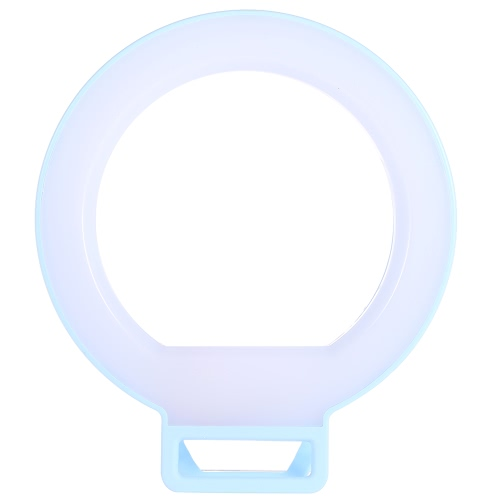 isf Smartphone LED Ring Selfie Light Supplementary Fill-in Lighting Night Darkness Enhancing Photography for iPhone 6/6 Plus Blackberry Samsung HTC Smartphone