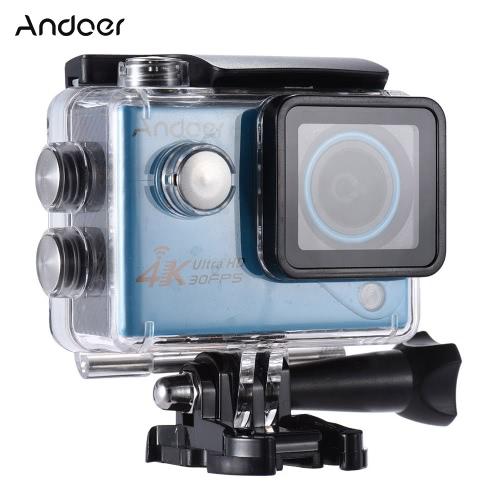 Andoer 4K 30FPS 1080p 60fps Full HD DV 2.0in LTPS Wifi tela LCD à prova d'água de 170 ° Grande Angular exterior Cam Sports Action Camera Filmadora Digital Video Car DVR