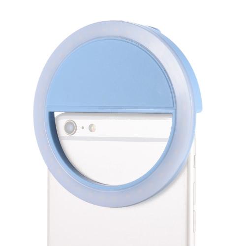 36pcs del coraje del clip del anillo Retrato compacto mini LED del grano selfie Auto Fill-in bolsillo de la luz cri95 5600K + 3 modos para el teléfono móvil del teléfono móvil iPhone Samsung