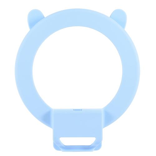 Tragbare Clip-on-nette reizende LED-Ring Selfie Selbstporträt Ergänzungs Fill-in-Beleuchtung-Licht für iPhone Blackberry Samsung HTC Smartphone