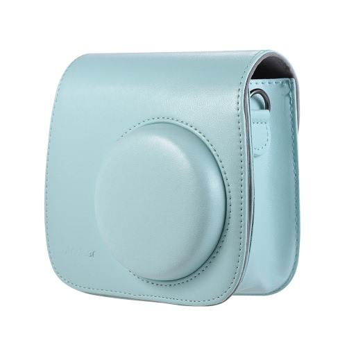 Torba na aparat fotograficzny Andoer PU z paskiem dla Fujifilm Instax Mini 9/8/8 + / 8s Smokey White