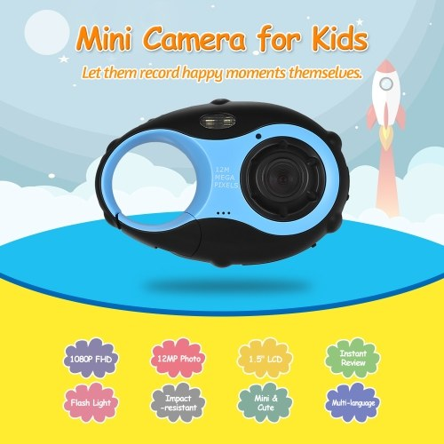 Kid Digital Video Camera 1080P with Flash Light