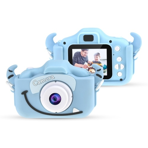 Kids Camera, Andoer Mini Kids Digital Camera 12MP 1080P HD Children Creative Camera Video Camcorder 2 inch IPS Screen with 32GB Memory Card Games Mode for Boys and Girls Kids (Blue Cow)