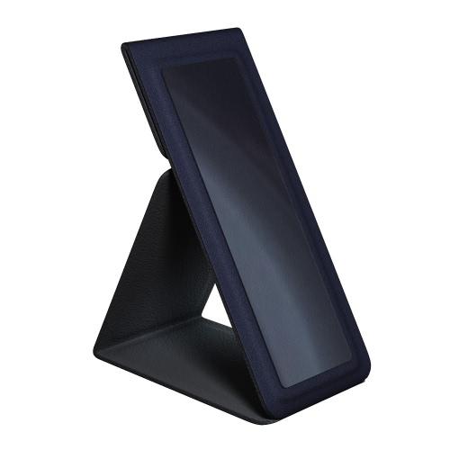dodocool 2-em-1 portátil Universal adesivo PU couro dobradura telefone titular Desktop Stand dedo de Hand Grip para iPhone Samsung LG HTC Smartphone reutilizável azul