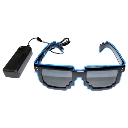 Gafas LED de 10 colores de luz opcional