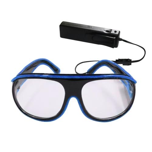 Gafas LED de control por voz YJ008 10 colores Luz opcional