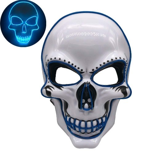 Halloween Party Маска LED Страшная Вспышка Маска EL Line Light Mask Косплей Маска Партия Маска для Партии