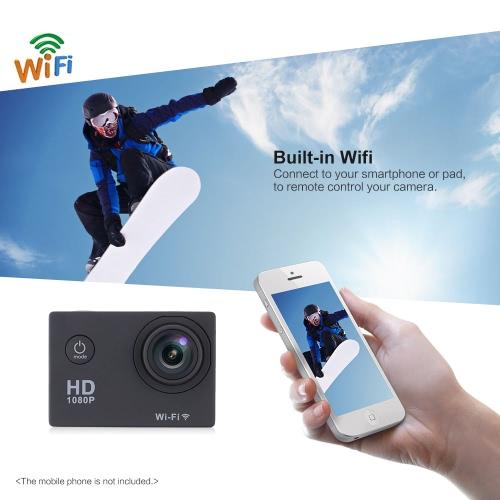 W9B 1080P, 30 FPS Макса 12MP Wifi водонепроницаемый 30M ударопрочный 170 ° широкоугольный 2.0» экрана открытый действий спорта камеры видеокамеры цифровые камеры видео HD DV автомобильный Видеорегистратор фото