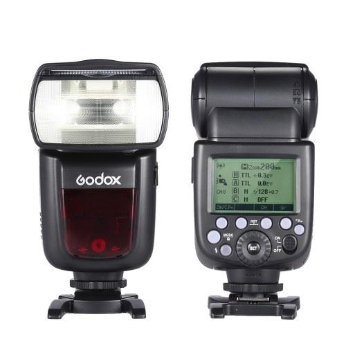 Godox V860II-C E-TTL 1 / 8000S Escravo Mestre HSS GN60 Speedlite Flash Embutido 2.4G Sistema X Sem Fio com 2000mAh Bateria Li-ion Recarregável