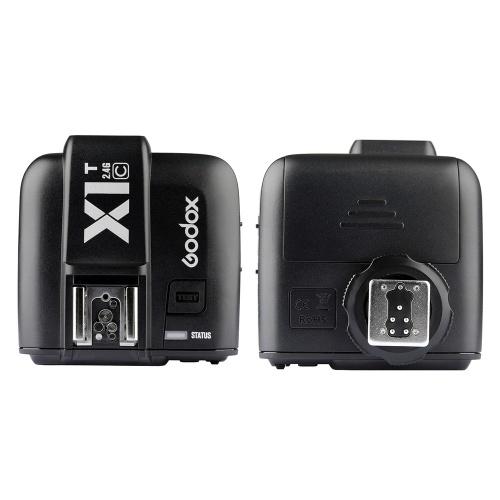 Godox X1T-C TTL 1 / 8000s HSS 32 canales 2.4G inalámbrico LCD Flash Trigger Transmisor