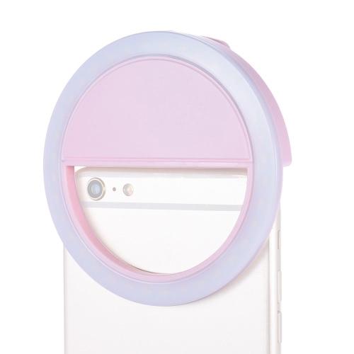 Zapał 36pcs Clip-on Mini Compact LED Bead selfie autoportret Pierścień wypełniający kieszonkowym światła CRI95 + 3-mode 5600K dla iPhone Telefon komórkowy Telefon komórkowy Samsung