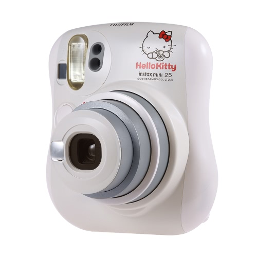 Fujifilm Instax Mini 25 Caméra instantanée Built-in Selfie Mirror Flash Double volets Lentille pop-up automatique avec lentille close-up