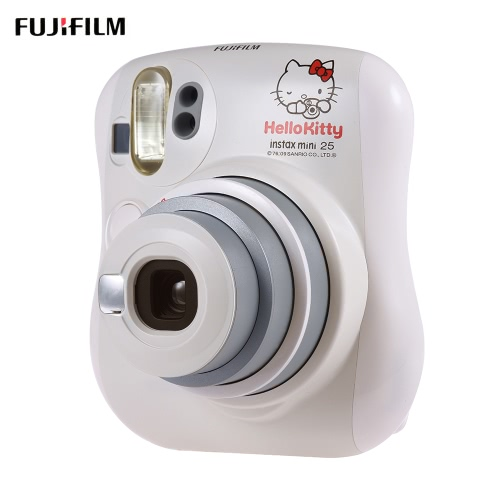 Fujifilm Instax Mini 25 Instant Camera Built-in Selfie Mirror Flash Dual Shutters Auto Pop-up Lens w/ Close-up Lens