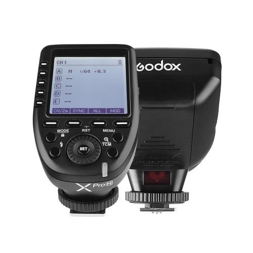 Godox Xpro-N i-TTL-Blitzauslöser mit großem LCD-Bildschirm 2.4G Wireless X-System 32 Kanäle 16 Gruppen Unterstützt TTL-Autoflash 1 / 8000s HSS