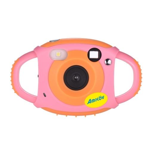 Amkov Cute Digital Video Camera Max. 5 Mega Pixels Built-in Lithium Battery Christmas Gift New Year Present for Kids Children Boys Girls D5171P