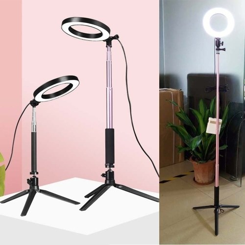 Dimmable Wide Dimming Range LED Ring Fill in Light Tripod for Camera Photo Studio Selfie Photography