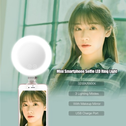 YONGNUO YN-08 Li Smartphone Mini Clip-on Selfie LED Ring Light
