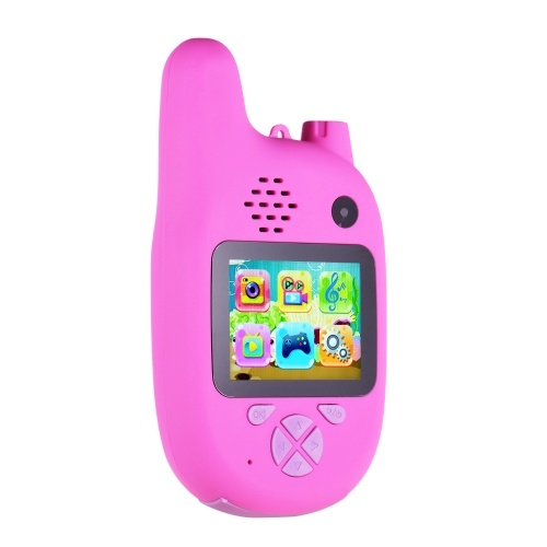 Children Camera with Walkie Talkie, Andoer 8MP Kids Camera Video Camcorder with Dual Lenses 2.0 inch IPS Screen Automatic Focusing Music and Game Mode for Boys Girls Kids Gifts for Christmas (Pink)