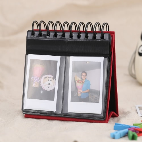 Photo Album with 68 Pockets PVC & Paper Table Calendar for Fujifilm Instax Mini8 3 Inch Picture