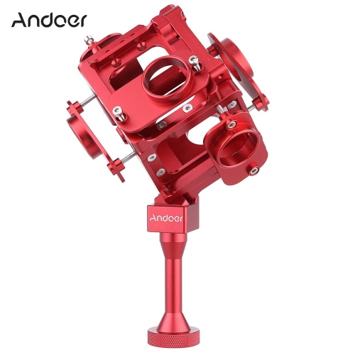 Andoer 360/720 Degree VR Full Shot Aerial FPV Panorama Panoramic Imaging Photography Video Recorder Capture Square Bracket Cage Monopod for Gopro Hero 3 / 3+ / 4 Action Camera Camcorder Digital Recorder DV DVR Accessories