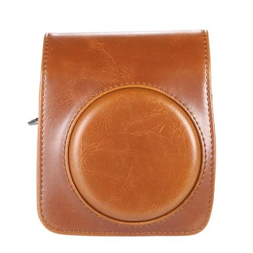 Classique PU Compact Vintage cuir cas sac pour appareil photo Fujifilm Instax Mini 70 pour Film instantané avec bandoulière