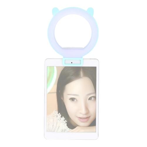 Портативный Clip-на милый симпатичный светодиодный кольцо селфи Автопортрет Дополнительный Принудительная Освещение Свет для iPhone Blackberry Samsung HTC смартфон фото