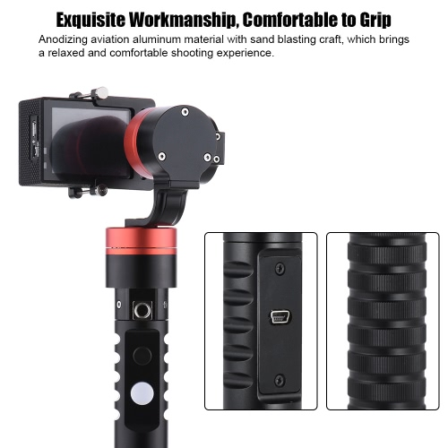 3-Axis Handheld Gimbal Brushless Action Camera Gyro Stabilizer for GoPro Hero 4-3+-3 for Xiaoyi Acti