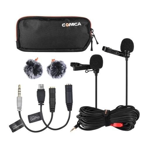 Comica CVM-D02 6m / 19,7ft Dual-head Lavalier Lapel Microphone