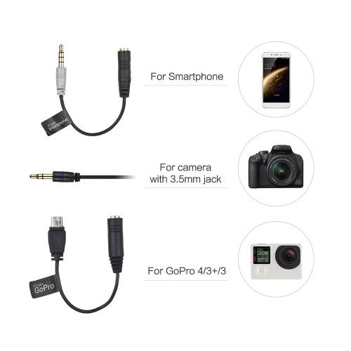 Comica CVM-D02 2.5m/8.2ft Dual-head Lavalier Lapel Microphone D4803-3R