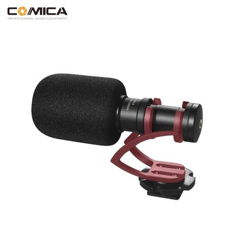 COMICA CVM-VM10II z pełnym metalem MINI kompaktowy kamera on-line z kardioidalną mikrofonem kierunkowym z uchwytem wstrząsowym do iPhone'a Samsung Smartfony Huawei dla DJI OSMO dla GoPro 3,3 +, 4,5 dla Sony A7RII A7 dla kamer Panasonic GH4 GH5 ILDC