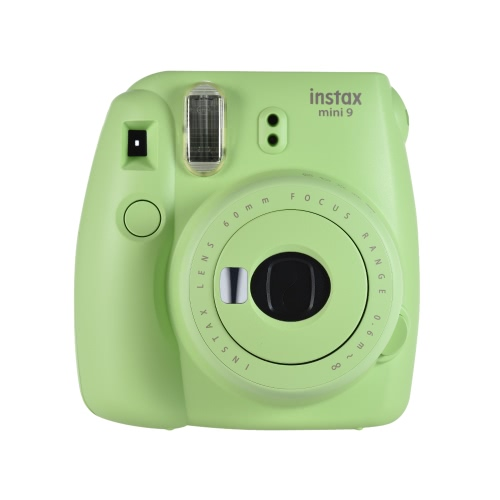 Fujifilm Instax Mini 9セルフシーミラー、スモーキーホワイト付きインスタントカメラフィルムカム
