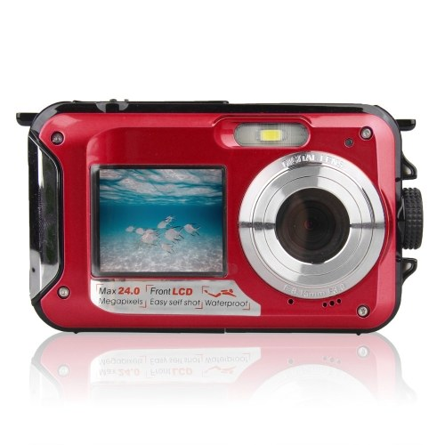 Waterproof Digital Camera Underwater Camera Video Recorder Selfie Dual Screen DV Recording Camera