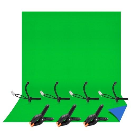 Andoer 6.6 * 9.8ft Fotostudio zweifarbiger Hintergrund Waschbarer Hintergrundbildschirm