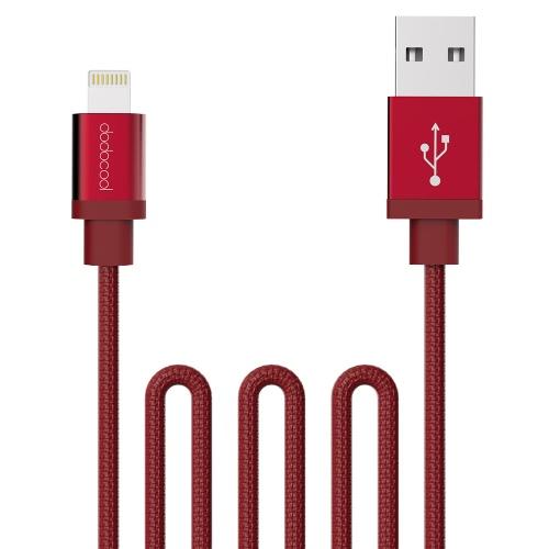 dodecool MFi certificato tela con telaio intrecciato a carica USB e cavo di sincronizzazione