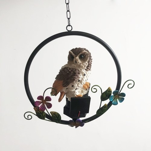 Solar Light Waterproof LEDs Owl Shape Wind Chimes Light