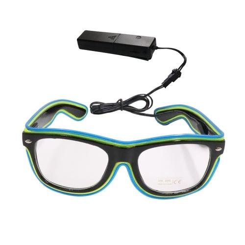 YJ003 LED-Brille mit Sprachsteuerung, 20 Farben, optionales Licht